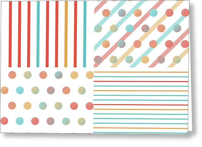 Simple Saturated Pattern Greeting Card