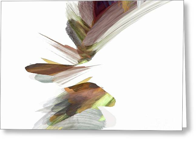 Greeting Card featuring the digital art Simple Strokes by Margie Chapman