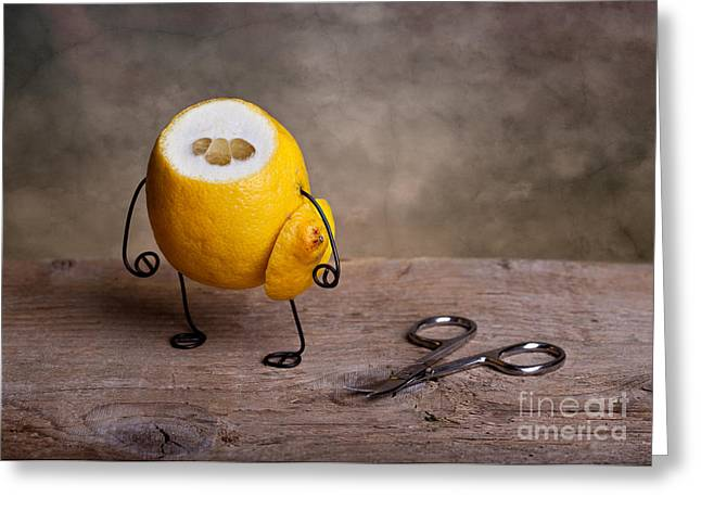 Lemon Art Greeting Cards - Simple Things 11 Greeting Card by Nailia Schwarz