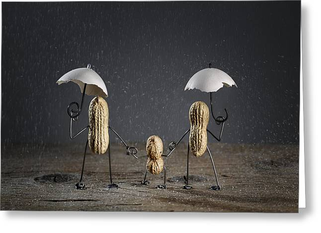 Simple Things - Taking A Walk Greeting Card by Nailia Schwarz