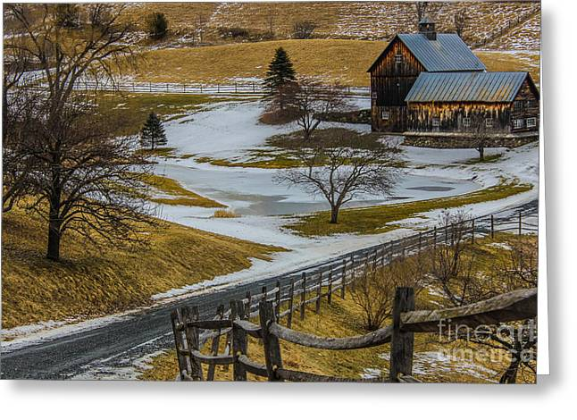 Simple Vermont Beauty Greeting Card by Joe Faragalli