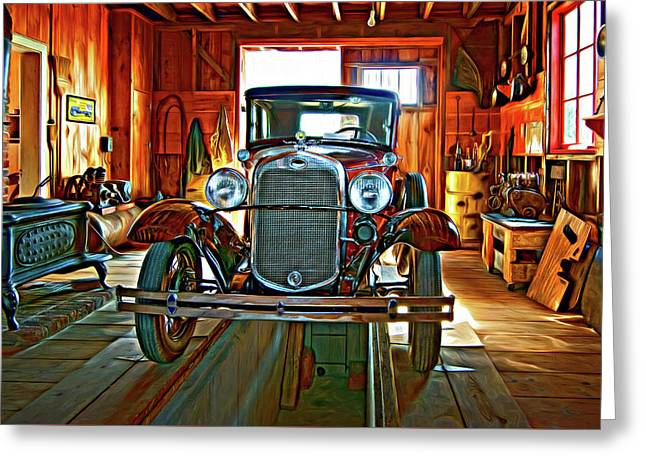 Simpler Times - Paint 2 Greeting Card