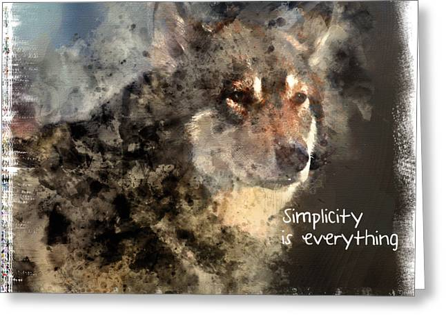 Simplicity Is Everything -light Greeting Card