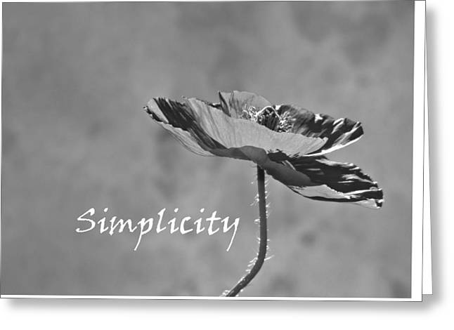 Simplicity Poppy Greeting Card by Barbara St Jean