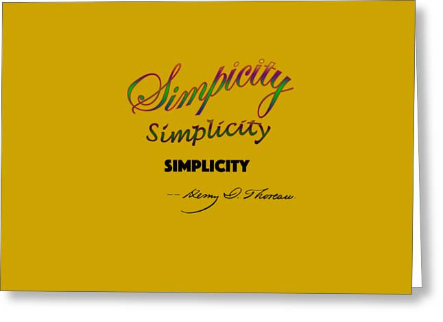 Simplicity Greeting Card by Rich Mason