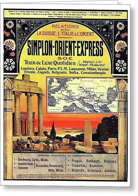 Simplon - Orient Express  Greeting Card