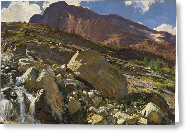 Simplon Pass Greeting Card by John Singer Sargent