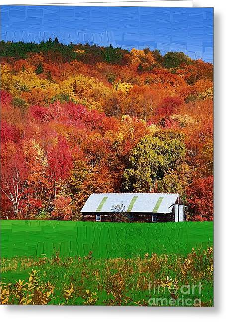 Simply Adirondack Greeting Card by Diane E Berry