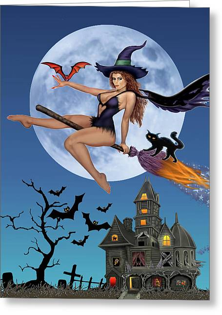 Simply Bewitch'n Greeting Card