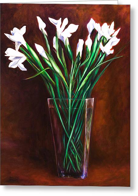 Simply Iris Greeting Card by Shannon Grissom