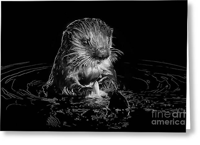 Simply Otter Greeting Card