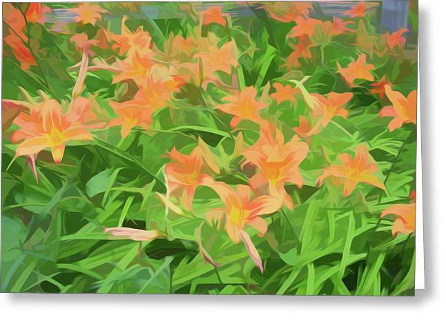 Simply Soft Field Of Toger Lilies Greeting Card