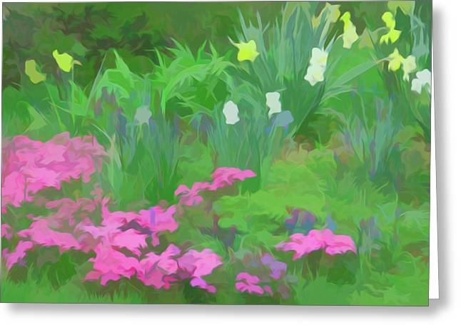Greeting Card featuring the photograph Simply Soft Garden Escape by Aimee L Maher Photography and Art Visit ALMGallerydotcom