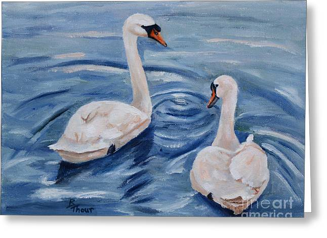 Simply Swans Greeting Card