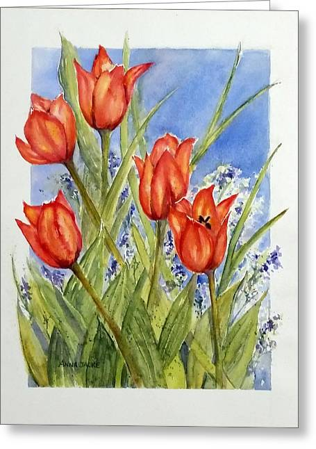 Simply Tulips Greeting Card