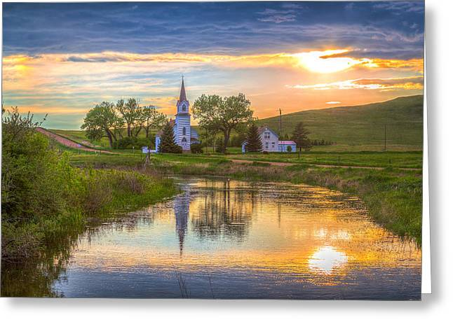 Sims Church 1 Greeting Card by Chad Rowe