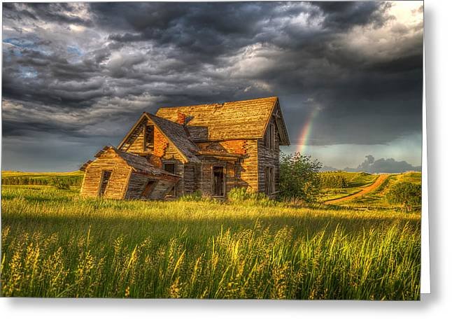 Sims House After The Storm Greeting Card by Chad Rowe