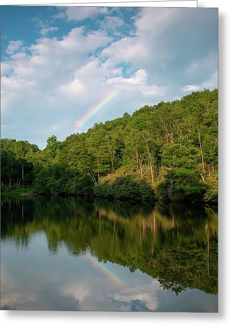Sims Pond Greeting Card by Jim Neal