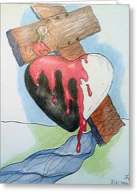 Sin Washer Greeting Card by Loretta Nash