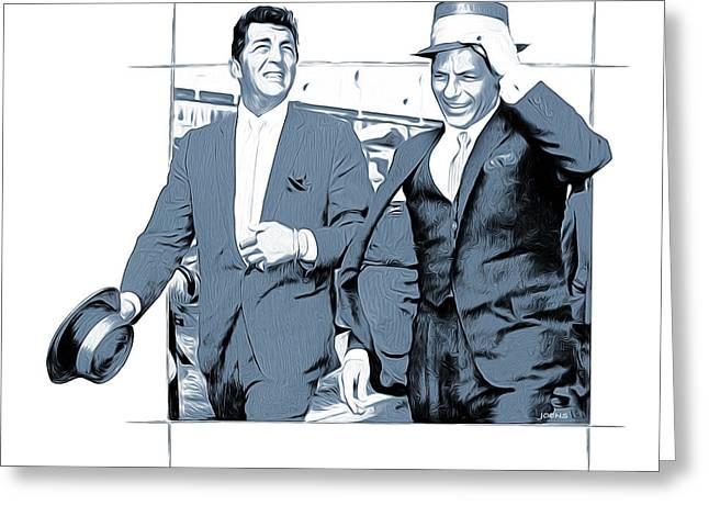 Sinatra And Martin Greeting Card