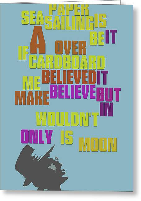 Sinatra. It's Only A Paper Moon. Lyrics. Can You Recognize The Song? Greeting Card