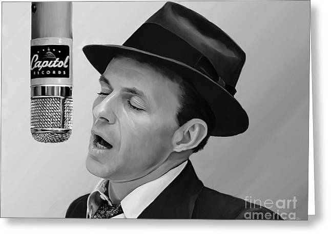 Sinatra Greeting Card by Paul Tagliamonte
