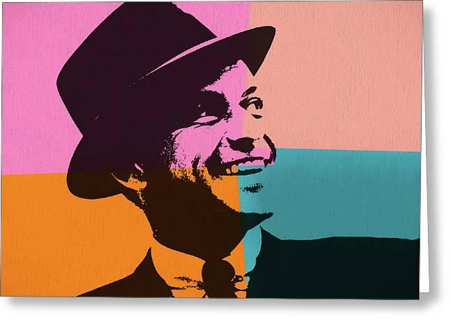 Sinatra Pop Art Greeting Card