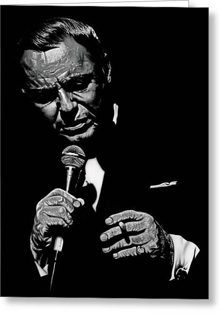 Sinatra Wout Sig Greeting Card by Dan Menta