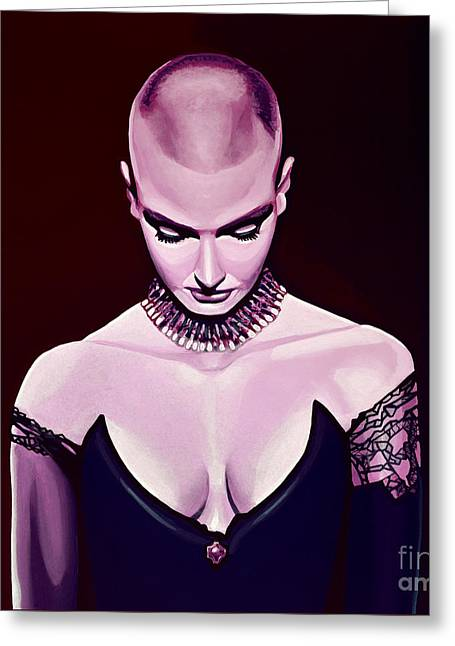 Sinead O'connor Greeting Card by Paul Meijering