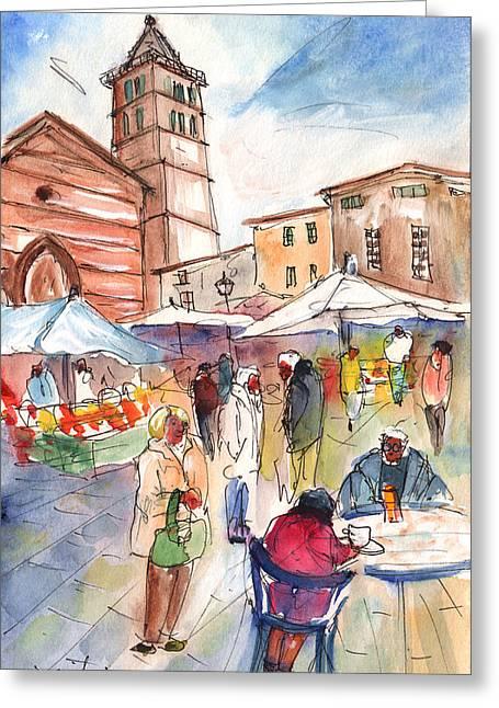 Sineu Market In Majorca 01 Greeting Card by Miki De Goodaboom