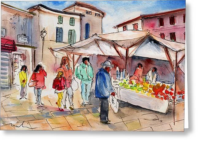 Sineu Market In Majorca 02 Greeting Card by Miki De Goodaboom