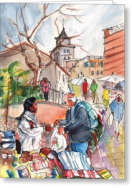 Sineu Market In Majorca 03 Greeting Card by Miki De Goodaboom