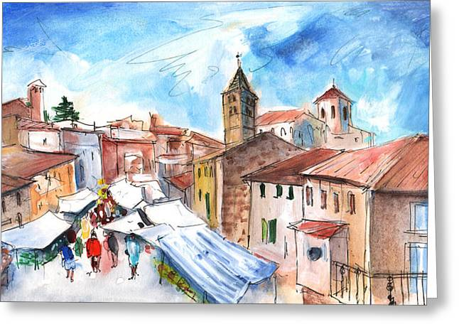Sineu Market In Majorca 06 Greeting Card by Miki De Goodaboom