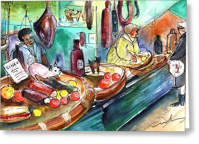 Sineu Market In Majorca 07 Greeting Card by Miki De Goodaboom