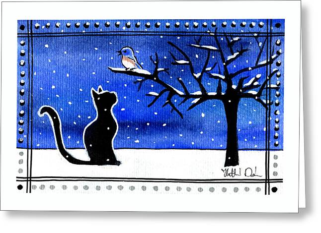Sing For Me - Black Cat Card Greeting Card