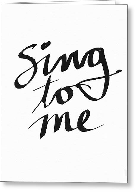 Sing To Me- Art By Linda Woods Greeting Card by Linda Woods