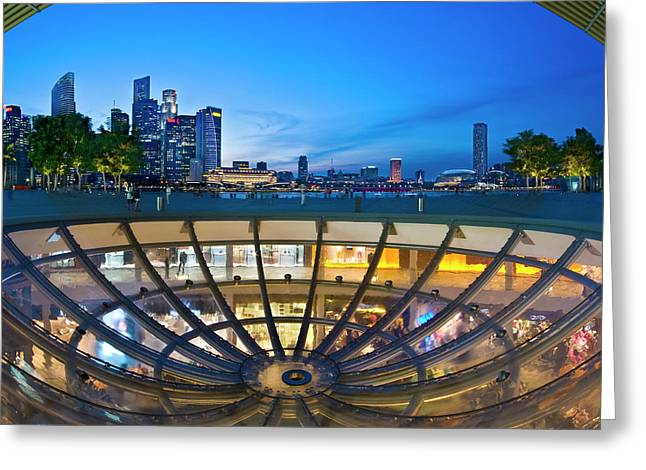 Greeting Card featuring the photograph Singapore - Marina Bay Sands by Ng Hock How