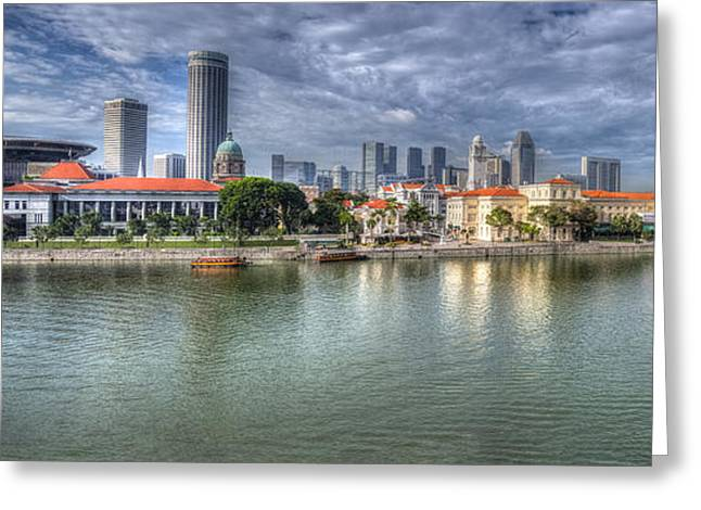 Singapore By Day Greeting Card