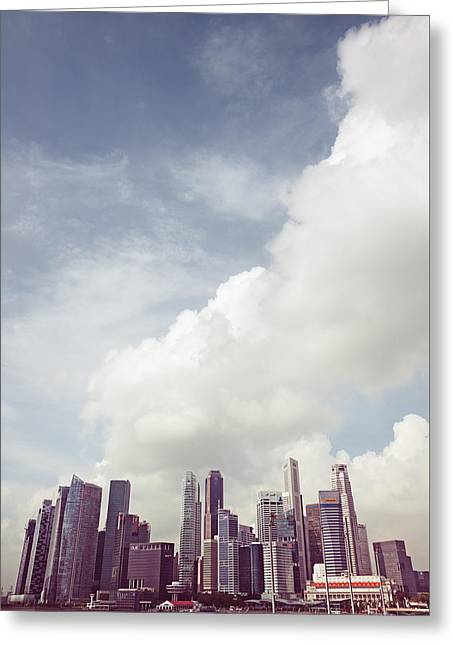Greeting Card featuring the photograph Singapore Cityscape by Joseph Westrupp