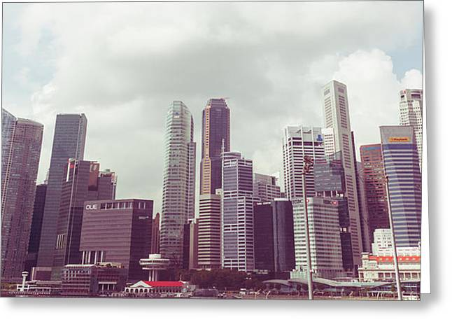 Singapore Cityscape The Second Greeting Card by Joseph Westrupp