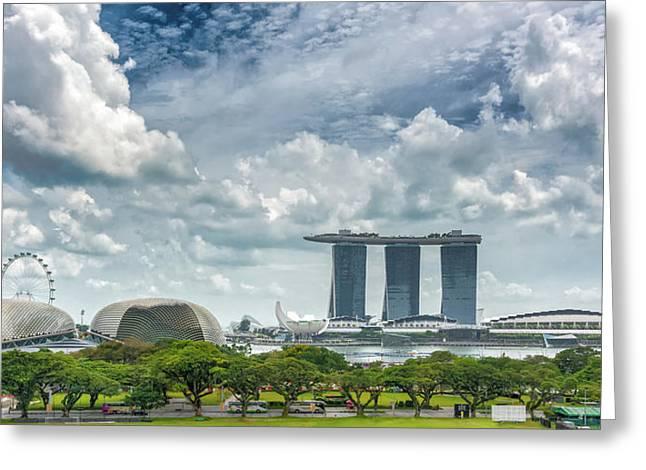 Singapore Panorama Greeting Card