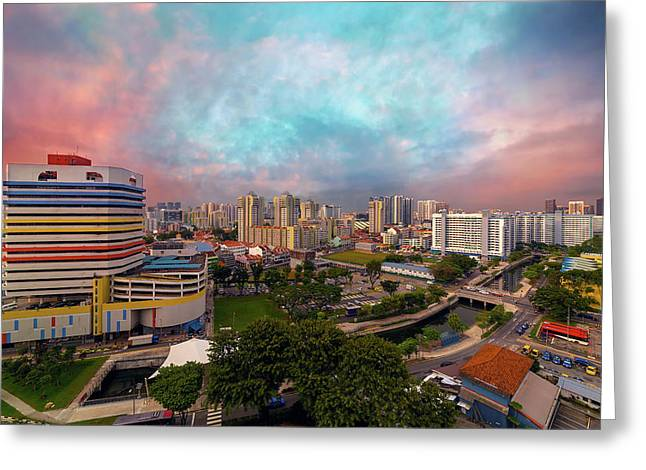 Singapore Rochor Commercial And Residential Mixed Area Greeting Card by David Gn