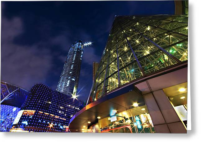 Greeting Card featuring the photograph Singapore Shopping Paradise by Ng Hock How