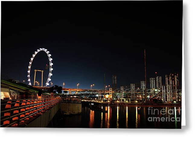 Singapore Waterfront Greeting Card by Jaroon Ittiwannapong