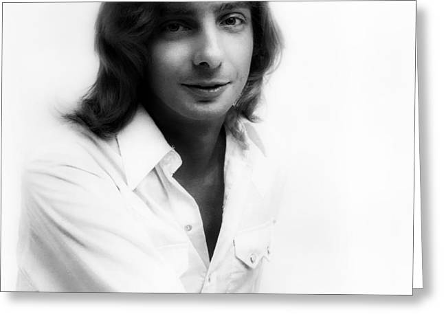 Singer Barry Manilow 1975 Greeting Card by Mountain Dreams