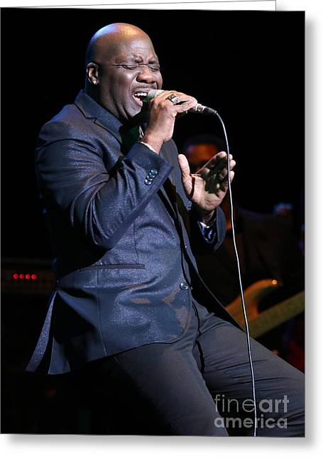 Singer Will Downing Greeting Card by Concert Photos