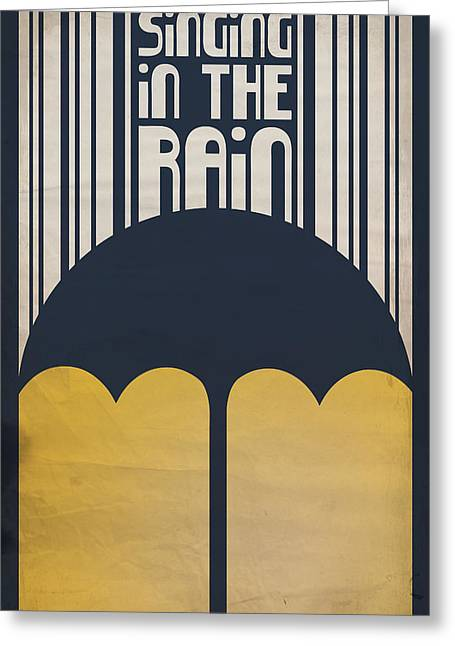 Gene Kelley Greeting Cards - Singin in the Rain Greeting Card by Megan Romo
