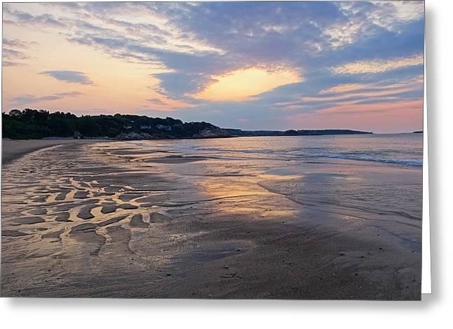 Singing Beach Sandy Beach Manchester By The Sea Ma Sunrise Greeting Card