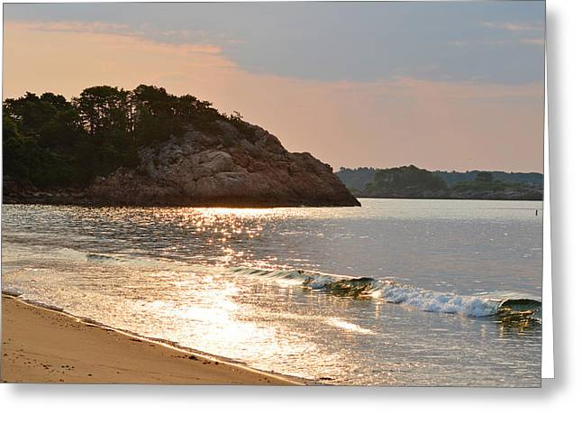 Singing Beach Silver Waves Manchester By The Sea Ma Greeting Card