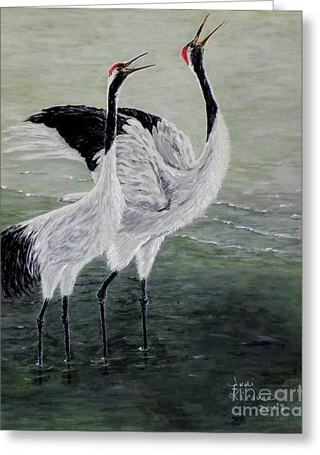 Singing Cranes Greeting Card